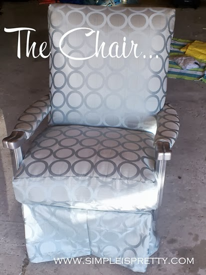 Chair Remodel for a Baby's Room from www.simpleispretty.com