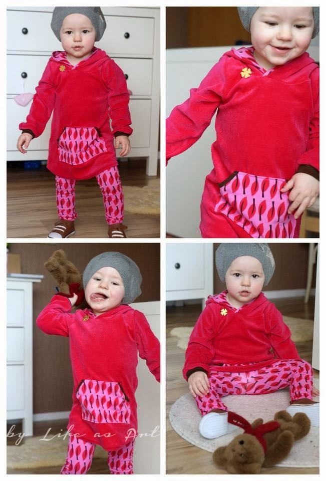 lillestoff Kinderstoff Nicki pink GOTS Biostoff
