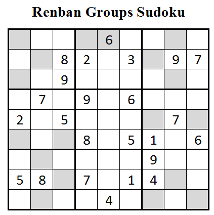 Renban 3x3 Groups Sudoku (Daily Sudoku League #2)