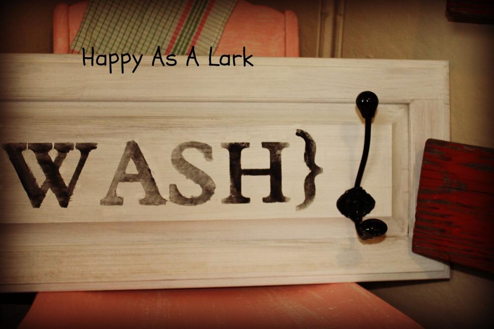 Happy As A Lark Repurposed Cabinet Door
