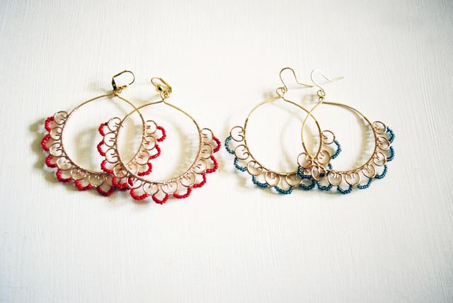 orecchini merletto