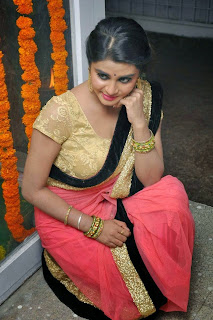 Harini in lovely Saree Spicy Pics Beautiful Tamil Actress at Valaam Movie Launch
