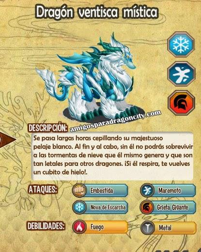 imagen de las caracteristicas del dragon ventisca mistica