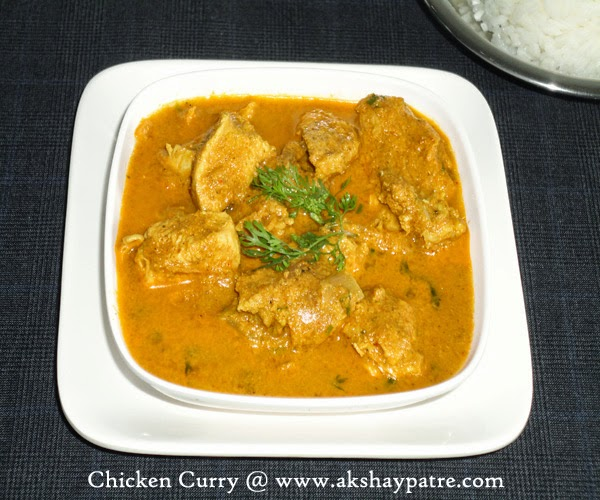 Chicken curry in a bowl