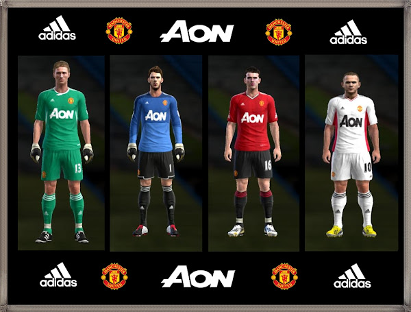 PES 2013 Manchester United Adidas Fantasy Kits by Eduran04