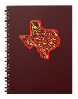 Texas Scribbleprint notebook