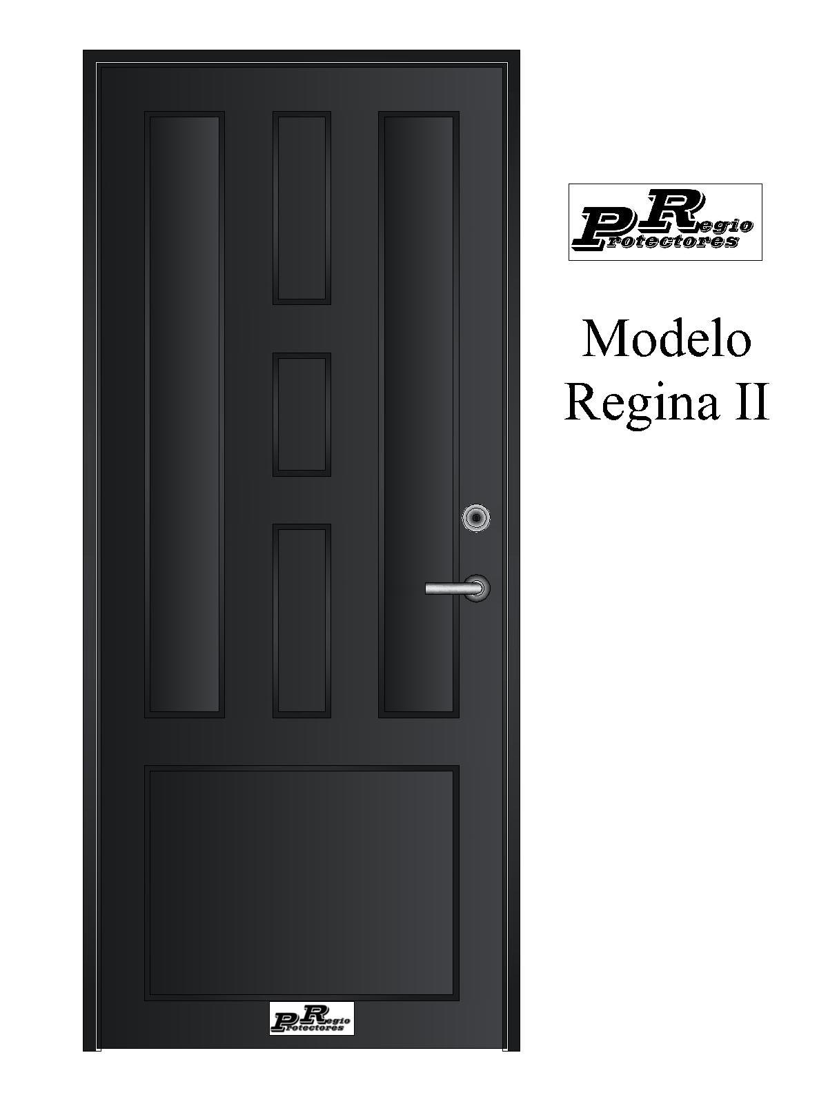 Puerta principal de hierro, Modelo Regina 2