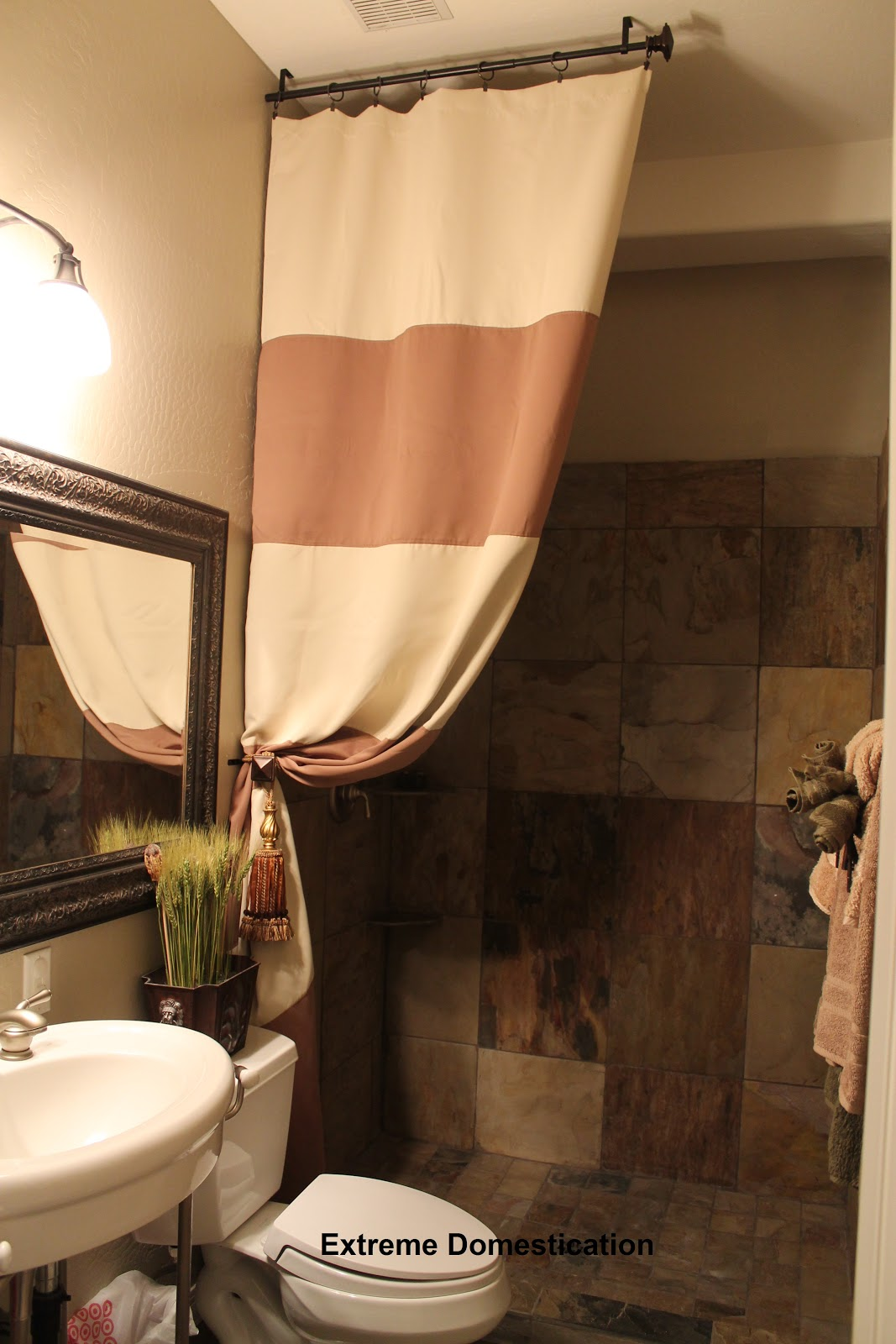 Extreme Domestication Diy Tall Shower Curtain
