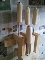 Wooden clamps, rumageinthegarage