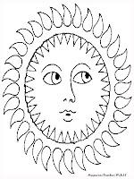 Gambar Mewarnai Matahari