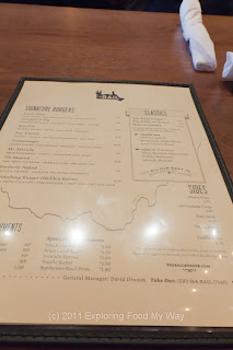 The Rail's Menu Front