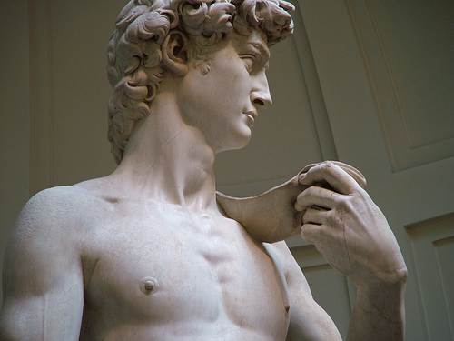 El David de Miguel Angel. La mejor escultura del renacimiento.