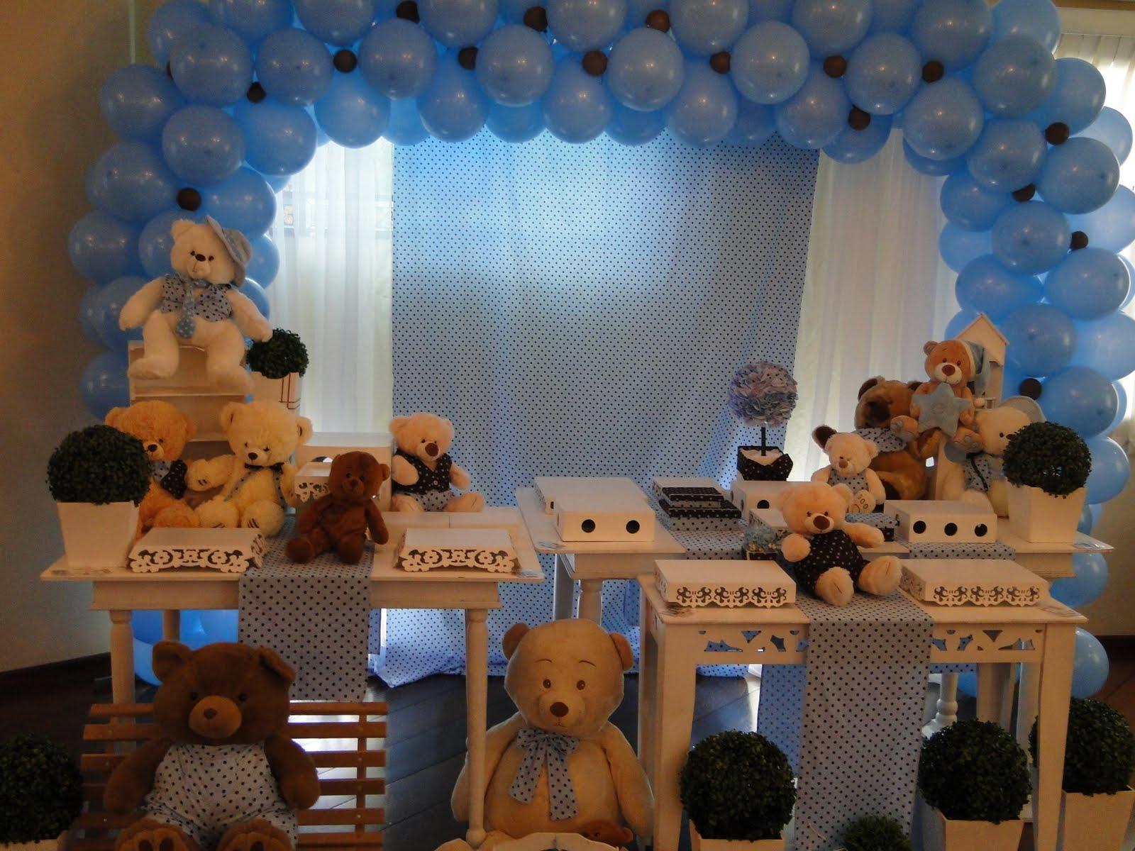 decoracao festa urso azul e marrom:Victoria Decoração Infantil : Ursinhos azul e Marrom – provençal