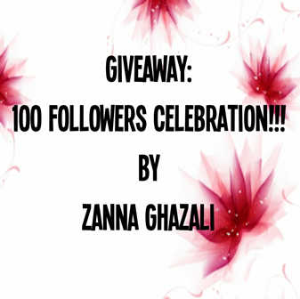 GIVEAWAY: 100 followers celebration by Zanna Ghazali