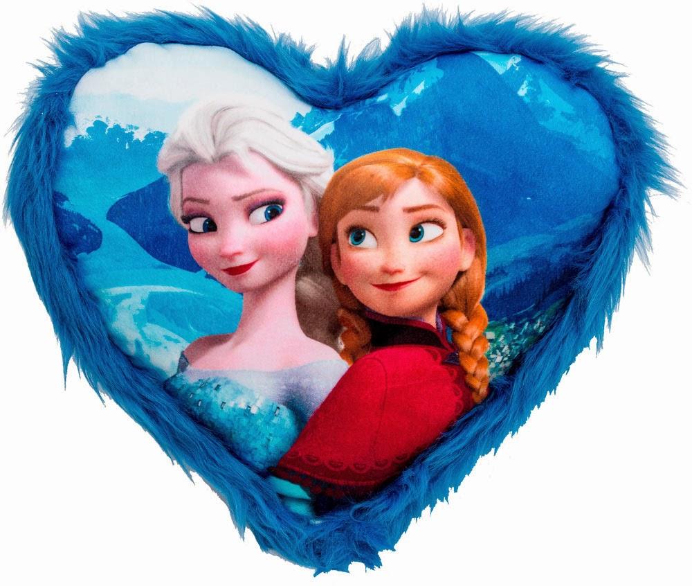 Cojin Corazón Elsa y Anna
