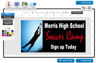 Soccer Banner Template in the Online Designer