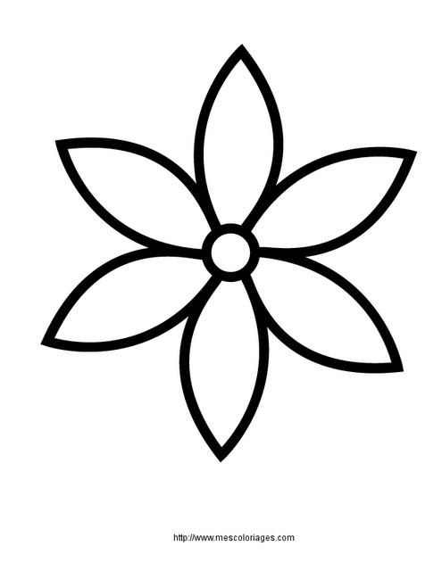 Flor con cinco petalos para colorear - Imagui