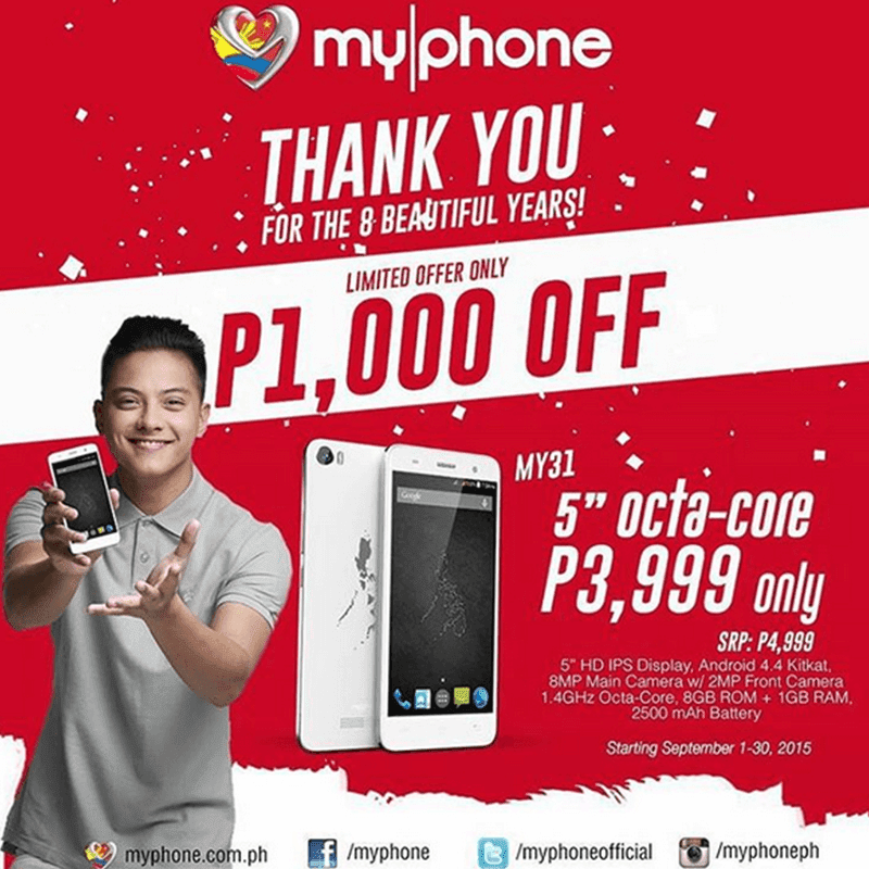 BREAKING NEWS! MYPHONE MY31 OCTA CORE PHONE DOWN TO JUST 3999 PESOS!