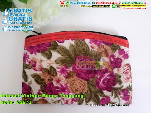 Dompet Vintage Bunga Tanggung