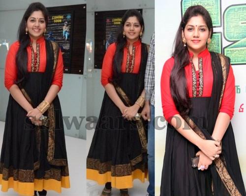 Collar Neck Salwar in Tri Color