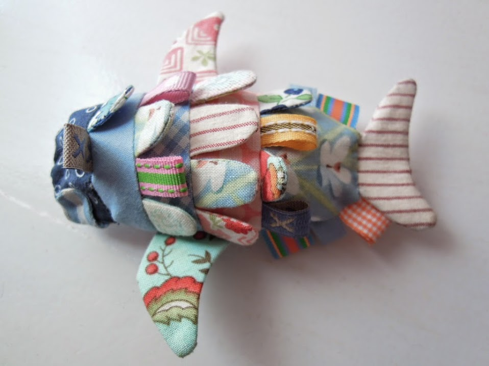 pez de patchwork sobrehilos