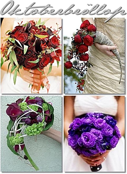 brudbukett höst, lila brudbukett, annorlunda brudbukett