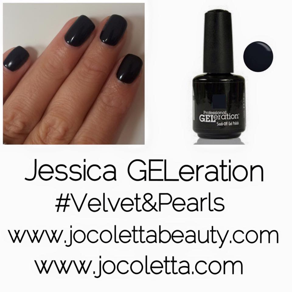 THIS WEEKS NAILS - -JESSICA GELERATION VELVET & PEARLS | JO COLETTA