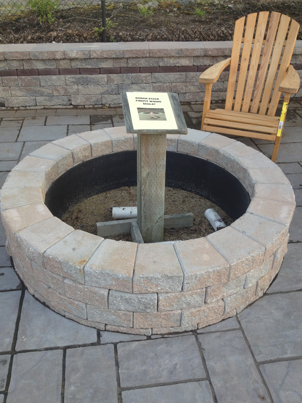 diy stone fire pits shine your light. Black Bedroom Furniture Sets. Home Design Ideas