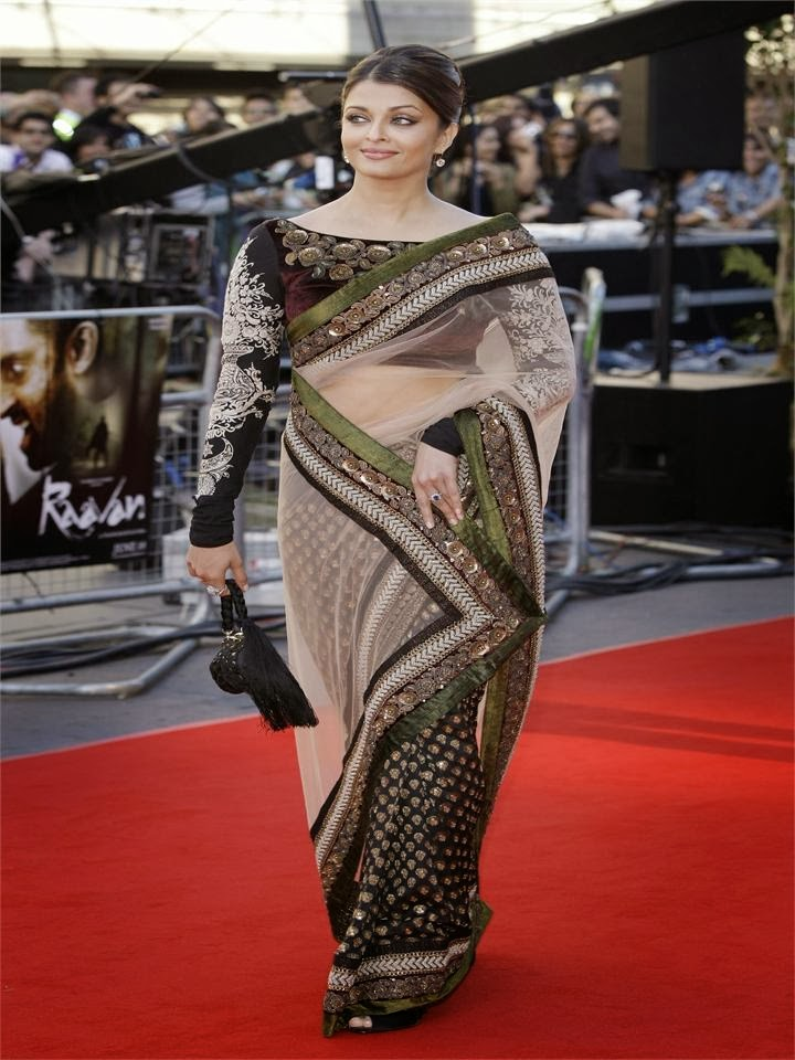 Aishwarya rai in saree on red carpet in oscars