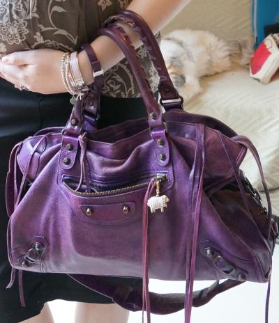 balenciaga sapphire purple city bag