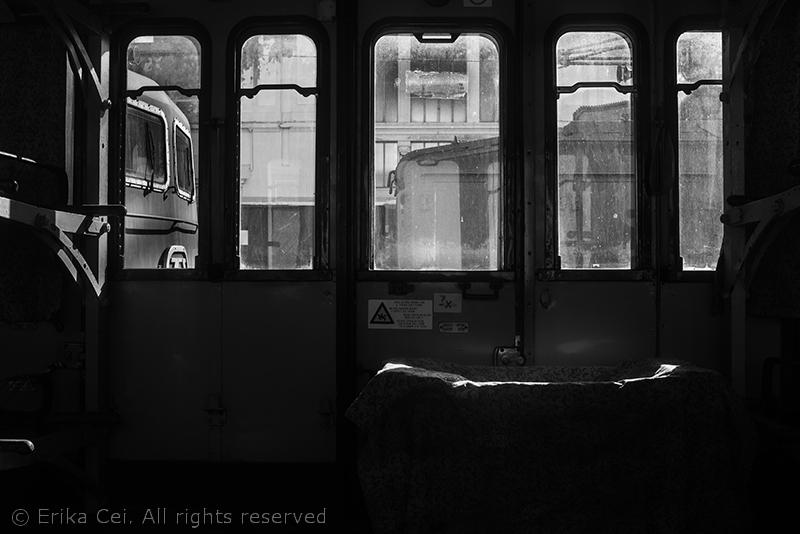 Stazione di Campo Marzio Trieste interno vagone