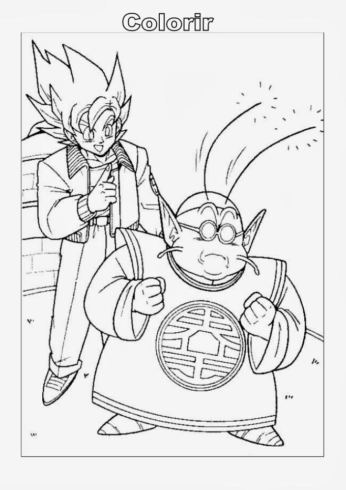Desenhos do dragon ball z para colorir e imprimir desenhos - Coloriage dragon ball gt ...