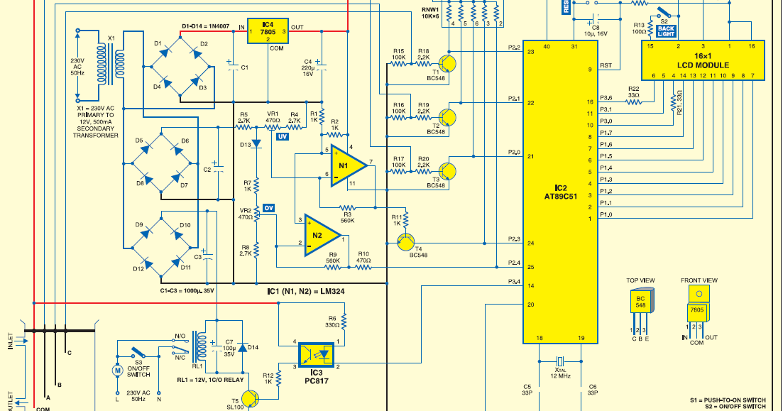 final year projects  microcontroller based water level controller cum motor protector