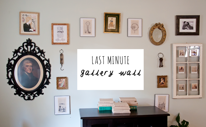 Last Minute Gallery Wall | Thomas Jefferson Portrait | DIY Wall Art | DIY Book Page Art