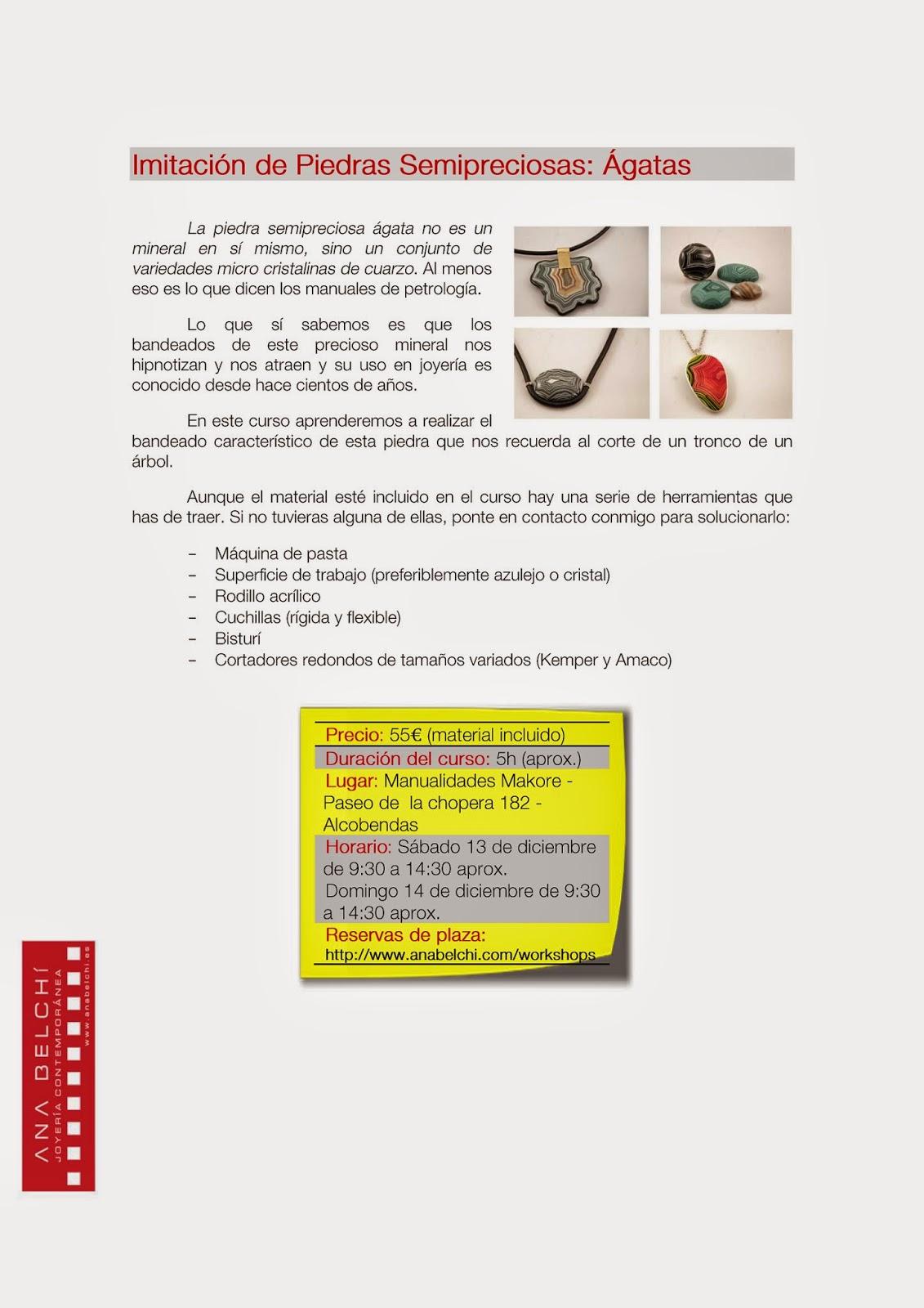 Ana Belch Cursos En Alcobendas Madrid  ~ Cursos De Manualidades En Madrid