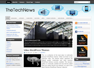 WordPress-Template WP-The Tech News WordPress Themes