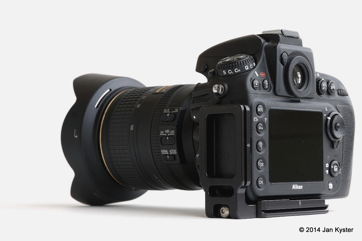 Hejnar ND800 MLB on Nikon D800 side back view