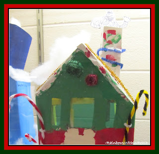 photo of: Art Project for Christmas: Snow Covered Home via RainbowsWithinReach