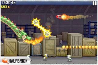صورة من داخل لعبة Jetpack Joyride