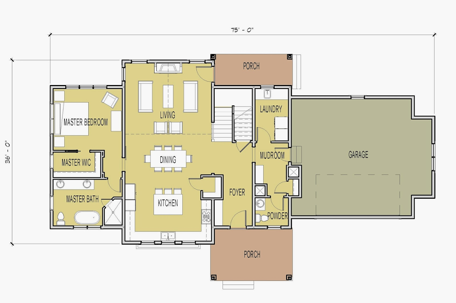 Simply Elegant Home Designs Blog: New House Plan with Main Floor ...