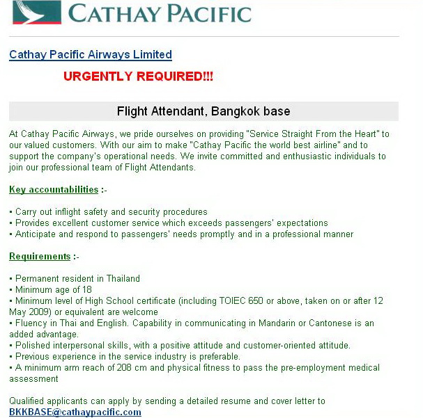 flight - Cover Letter For Cabin Crew