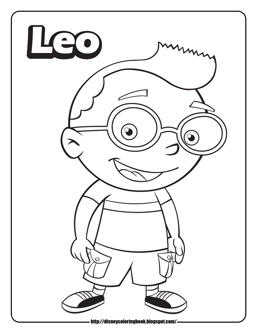 Little einsteins 3 free disney coloring sheets learn to for Leo coloring pages