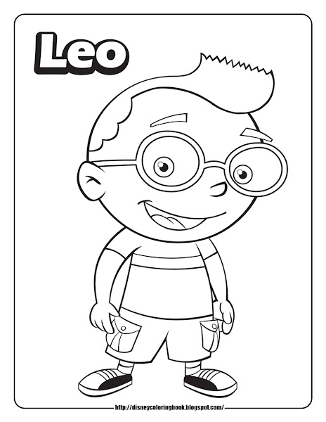 Leo Little Einsteins Coloring Pages