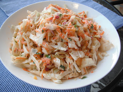 Southern Spoon Blog: mango and lime cabbage slaw