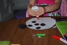 preschooler, craft, cow craft, farm craft, animals, art