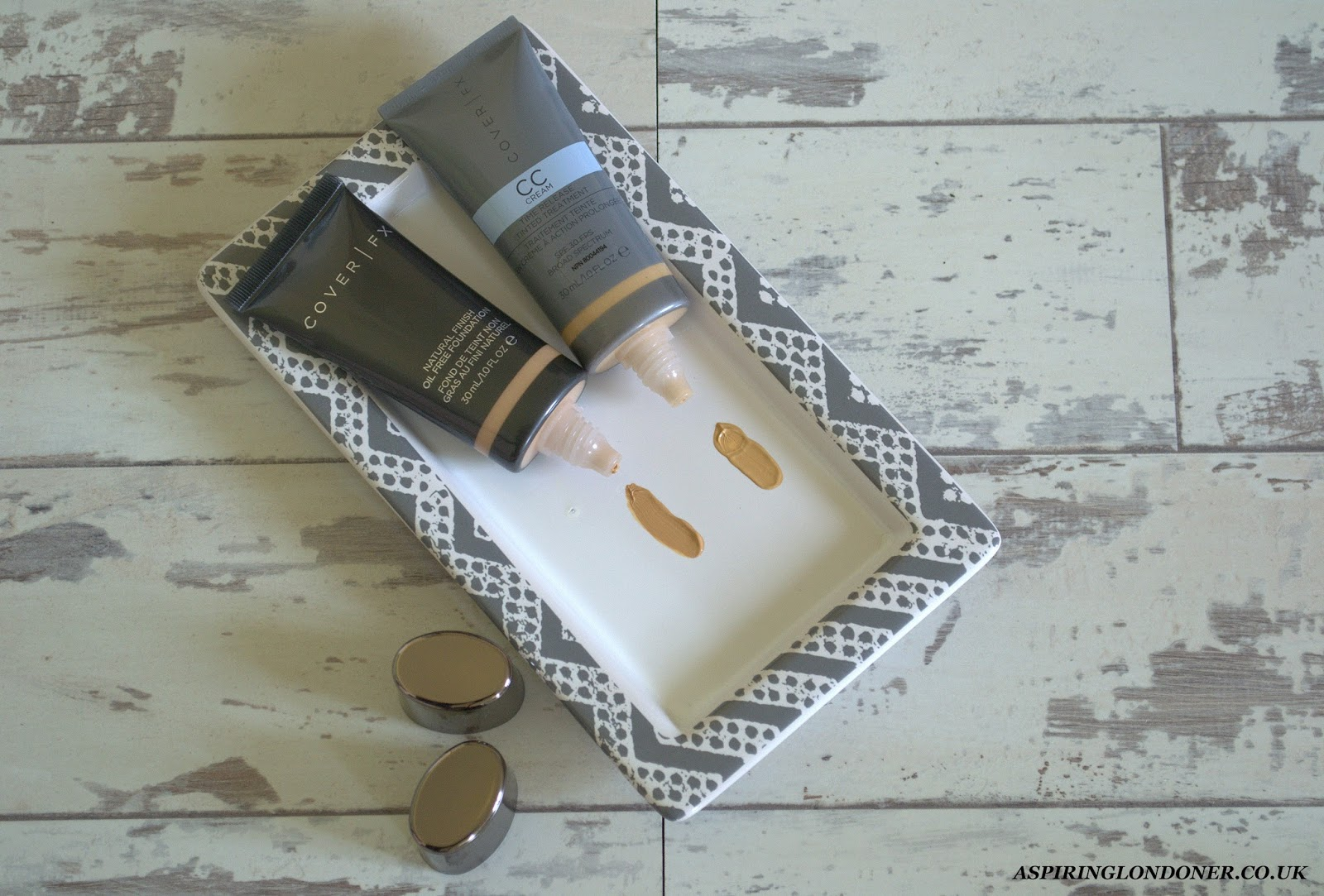 Cover FX Natural Finish Oil Free Foundation & Cover FX CC Cream Review Swatches - Aspiring Londoner