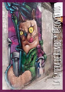 Mural Gato Grafiti Betanzos Coruña Galicia