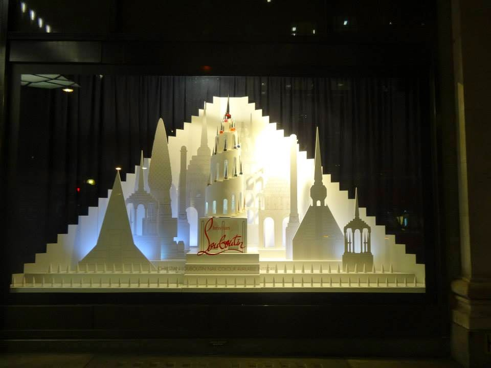 The Louboutin Factory in Selfridges Shop Window 2014 jul-aug