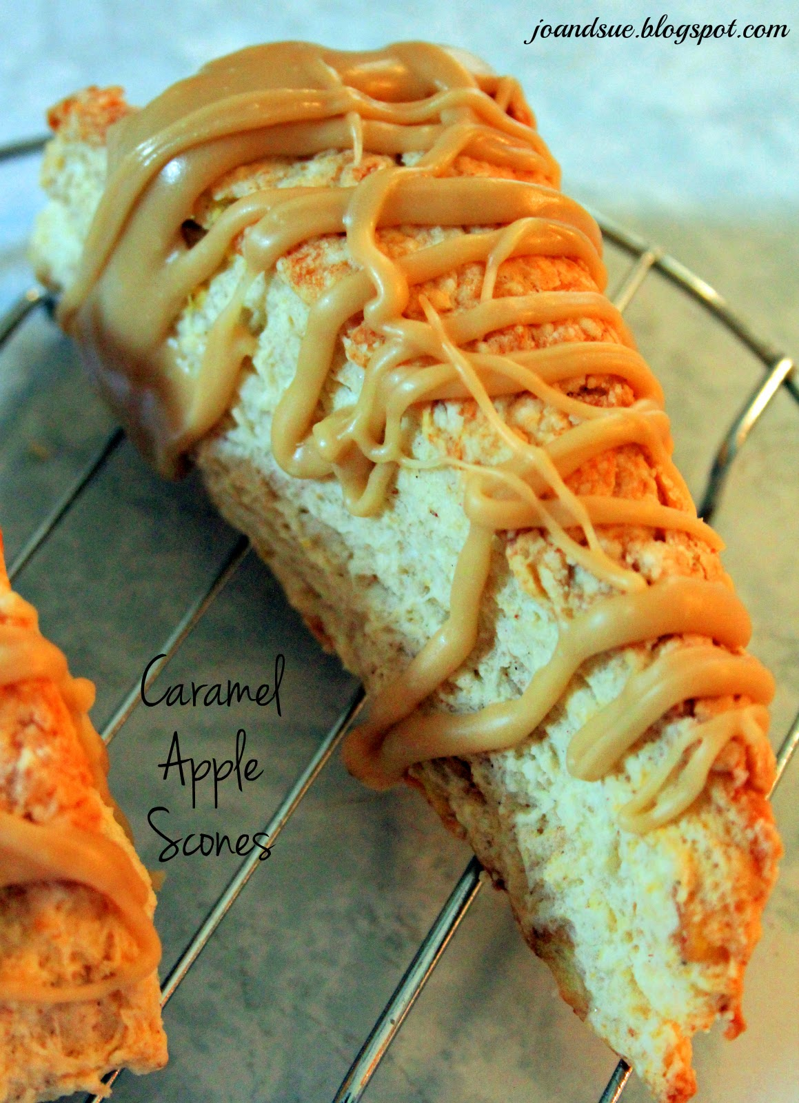 Jo and Sue: Caramel Apple Scones