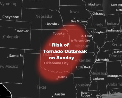 There is a threat for a tornado outbreak episode for Sunday, May 19th.